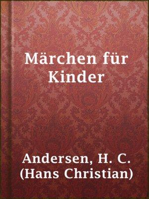 cover image of Märchen für Kinder