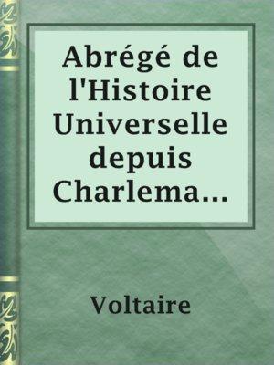 cover image of Abrégé de l'Histoire Universelle depuis Charlemagne jusques à Charlequint (Tome Premier)