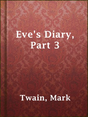 cover image of Eve's Diary, Part 3