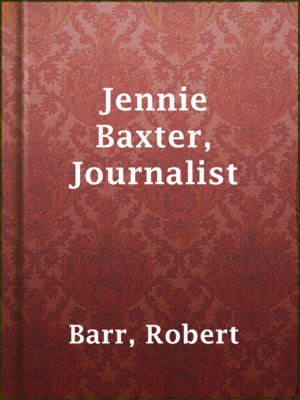 cover image of Jennie Baxter, Journalist