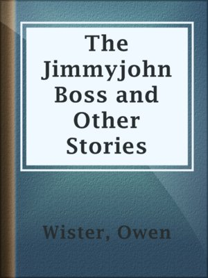 cover image of The Jimmyjohn Boss and Other Stories