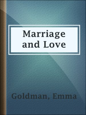 cover image of Marriage and Love