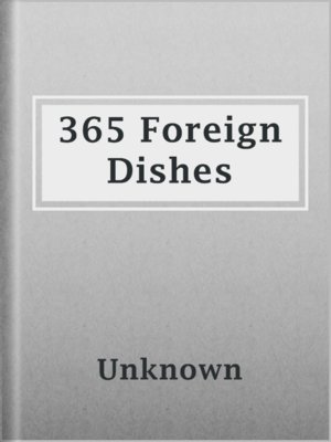 cover image of 365 Foreign Dishes