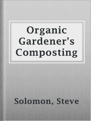 cover image of Organic Gardener's Composting