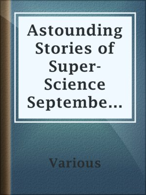 cover image of Astounding Stories of Super-Science September 1930