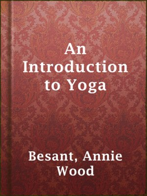 cover image of An Introduction to Yoga