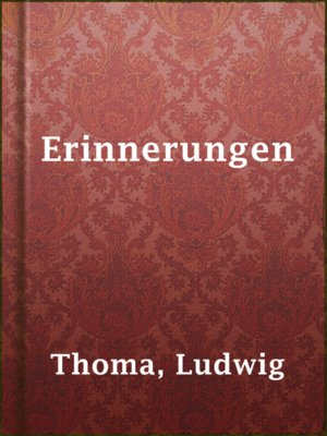 cover image of Erinnerungen