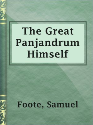 cover image of The Great Panjandrum Himself