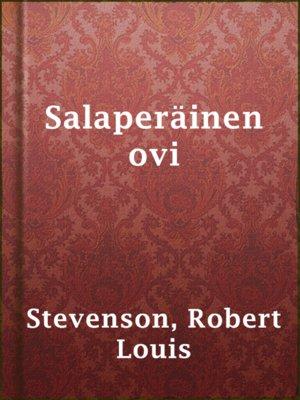 cover image of Salaperäinen ovi