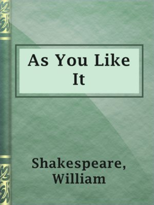 cover image of As You Like It