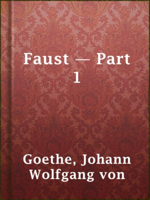 cover image of Faust — Part 1