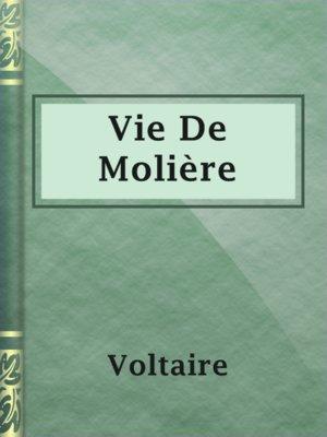 cover image of Vie De Molière