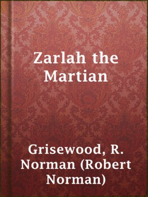 cover image of Zarlah the Martian