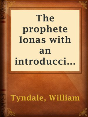 cover image of The prophete Ionas with an introduccion