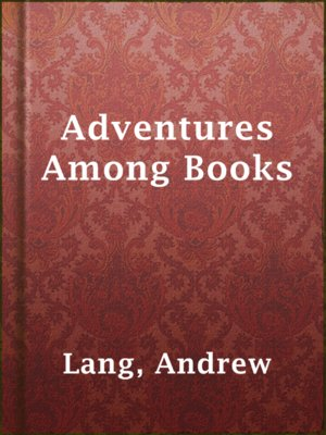 cover image of Adventures Among Books