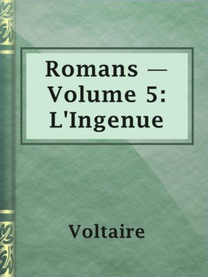 cover image of Romans — Volume 5: L'Ingenue