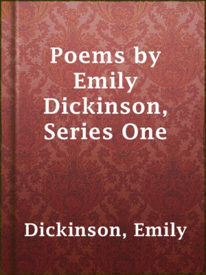 cover image of Poems by Emily Dickinson, Series One