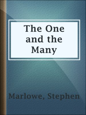 cover image of The One and the Many