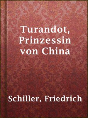 cover image of Turandot, Prinzessin von China
