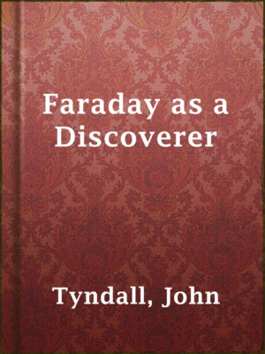 cover image of Faraday as a Discoverer