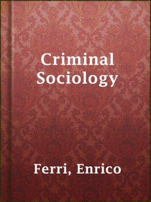 cover image of Criminal Sociology