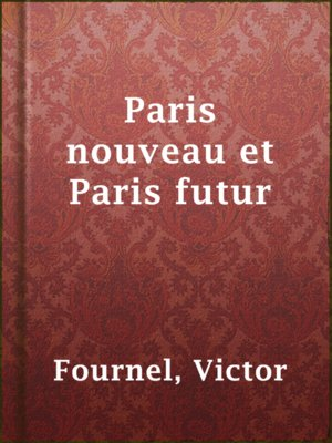 cover image of Paris nouveau et Paris futur