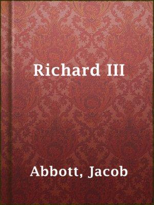 cover image of Richard III