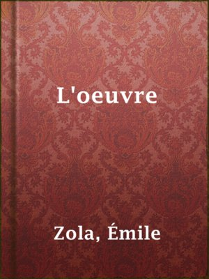 cover image of L'oeuvre