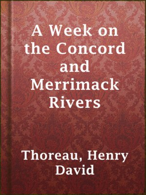 cover image of A Week on the Concord and Merrimack Rivers