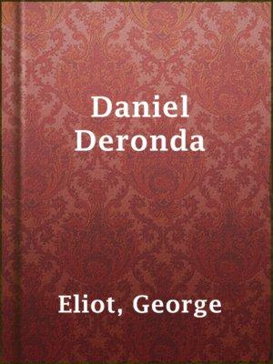 cover image of Daniel Deronda