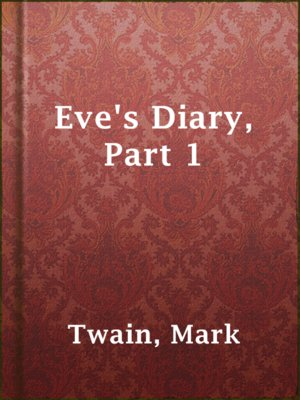 cover image of Eve's Diary, Part 1