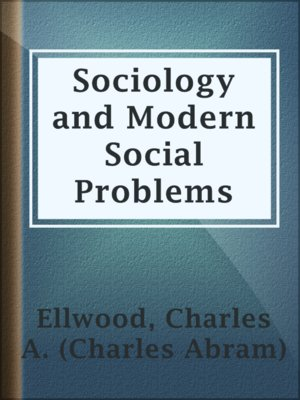 cover image of Sociology and Modern Social Problems