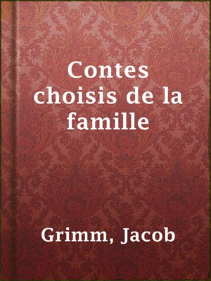 cover image of Contes choisis de la famille