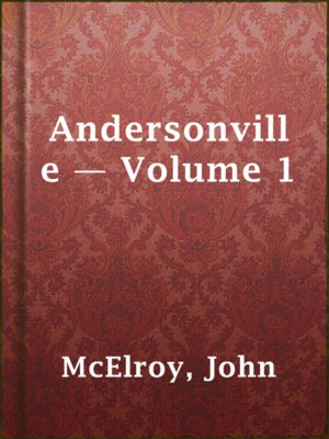 cover image of Andersonville — Volume 1