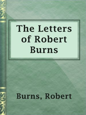cover image of The Letters of Robert Burns