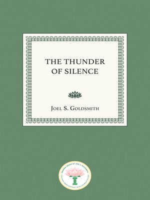 cover image of The Thunder of Silence