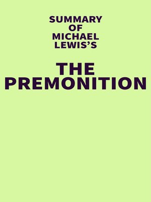 cover image of Summary of Michael Lewis's the Premonition