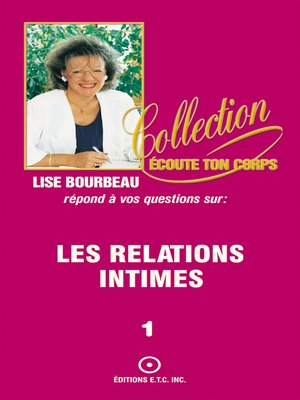 cover image of Les relations intimes