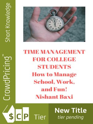 cover image of Time Management For College Students
