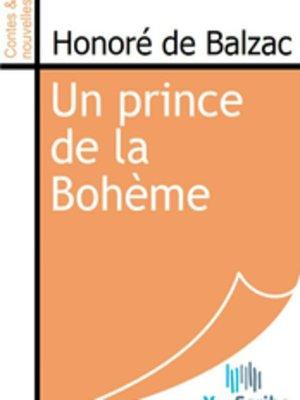 cover image of Un prince de la Bohème