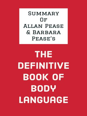 cover image of Summary of Allan Pease and Barbara Pease's the Definitive Book of Body Language