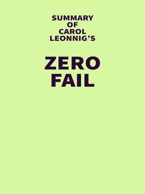 cover image of Summary of Carol Leonnig's Zero Fail
