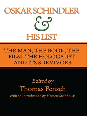 cover image of Oskar Schindler and His List