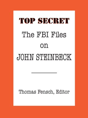 cover image of The FBI Files on John Steinbeck