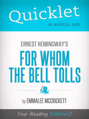 cover image of Quicklet on Ernest Hemingway's for Whom the Bell Tolls