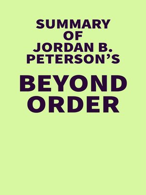 cover image of Summary of Jordan B. Peterson's Beyond Order