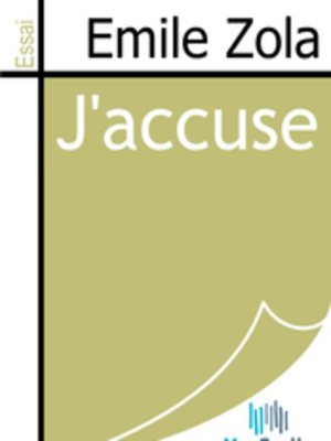 cover image of J'accuse