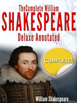 cover image of The Complete Works of William Shakespeare Deluxe Annotated