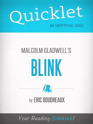 cover image of Quicklet on Blink by Malcolm Gladwell