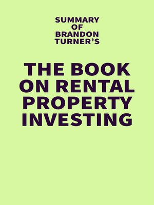 cover image of Summary of Brandon Turner's the Book on Rental Property Investing